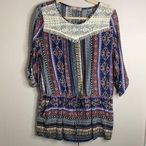 Katie paisley blouse. Size XL. NEW